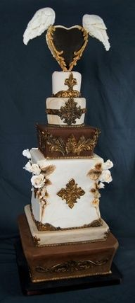 Gorgeous Wings of Love cake by Crazy Cakes