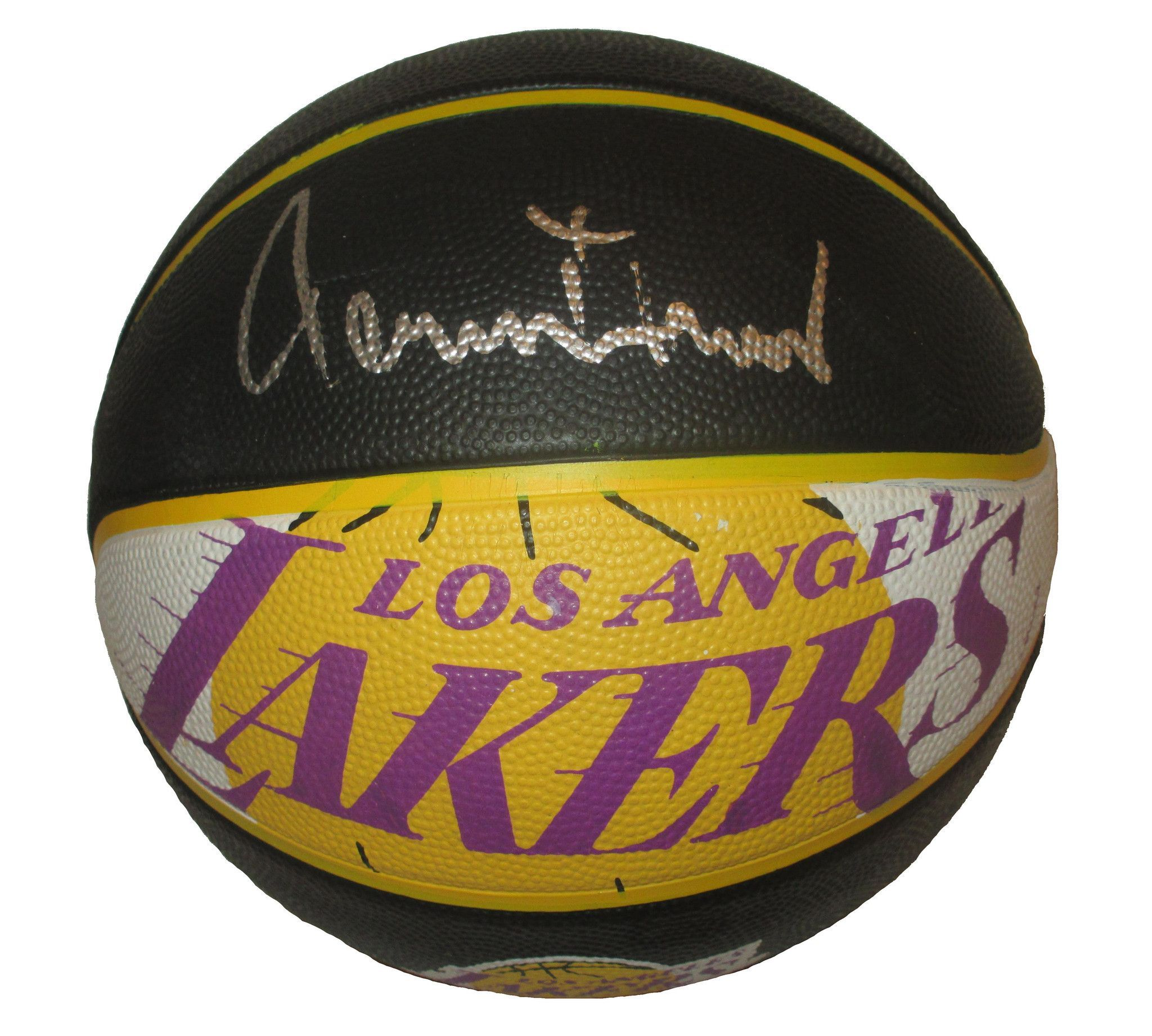 Jerry West Autographed Los Angeles Lakers Logo NBA