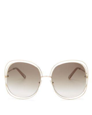 b4cf6f69f8ec CHLOÉ Carlina Square Oversized Sunglasses