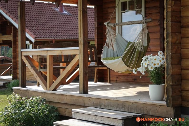 Hammock chair (green/white)   Stuhl grün, Hängematte ideen ...