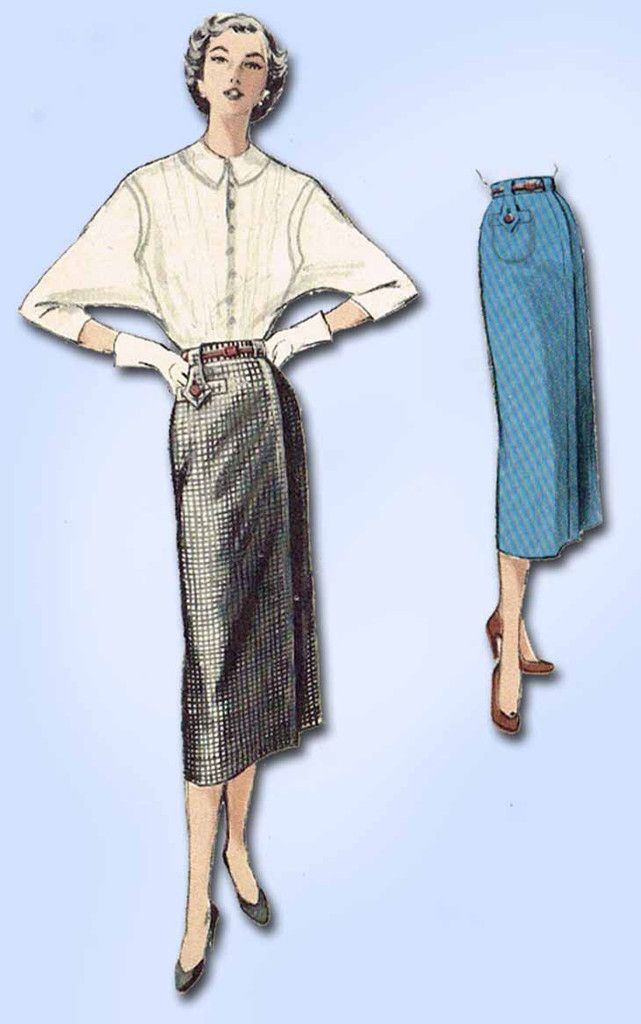 1950s Vintage Butterick Sewing Pattern 5594 Easy Misses\' Skirt Size ...