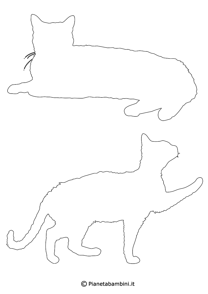 Sagome Di Gatti Da Stampare Colorare E Ritagliare Gatti