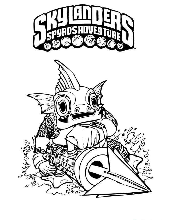 Skylanders Spyros Adventure Coloring Pages 6 | Coloring pages for ...