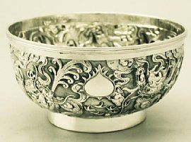 An exceptional 'Chinese Silver Bowl.' - For more photos & information, visit http://www.acsilver.co.uk/shop/pc/Chinese-Export-Silver-Bowl-Antique-Circa-1890-41p3813.htm