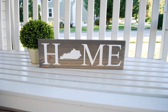 Kentucky home wood sign Home decor, kentucky proud, wall decor