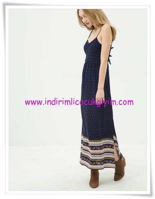 Koton Lacivert Askili Uzun Elbise 90 Tl The Dress Elbise Uzun Elbise