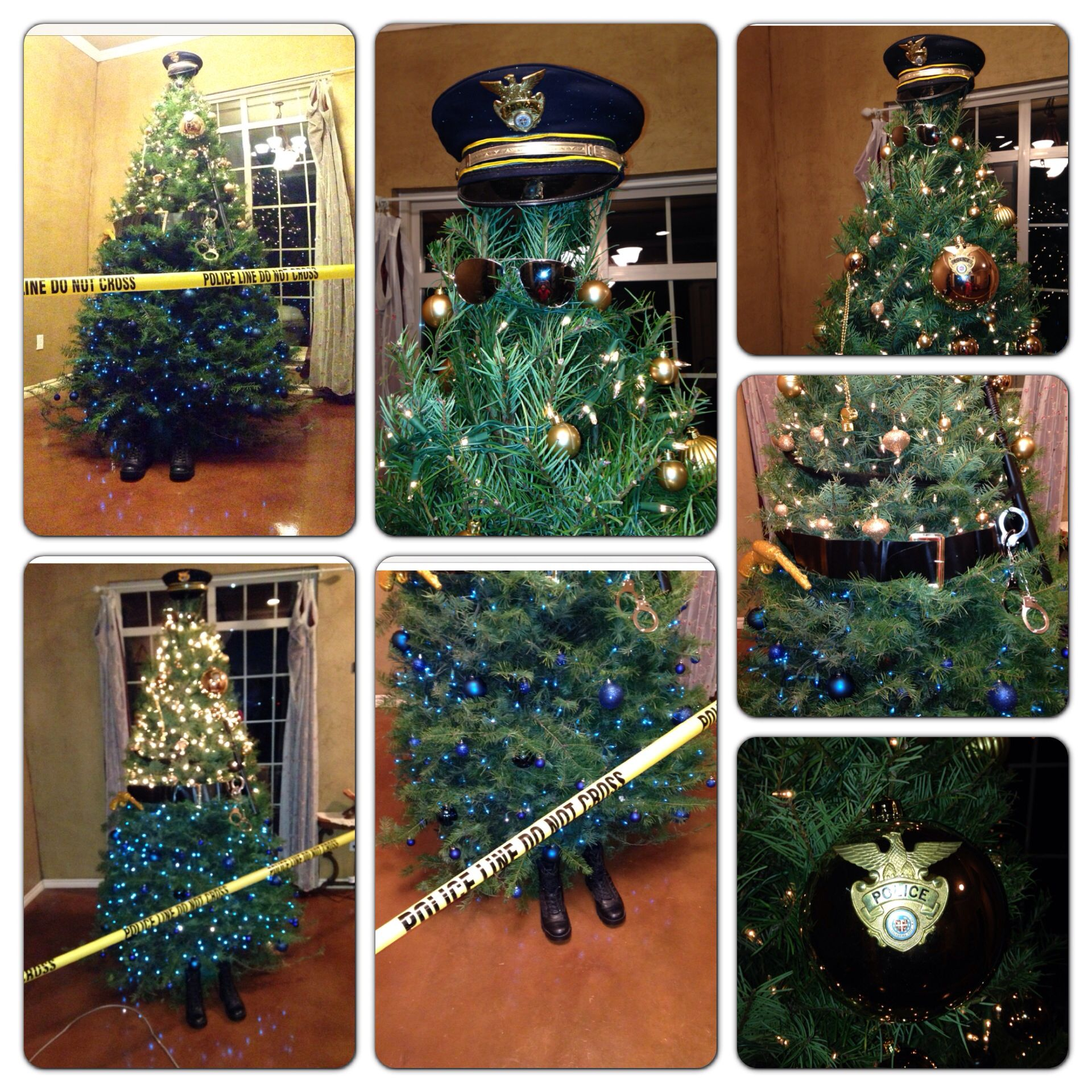 My Police Officer Christmas Tree. Oh my gosh so cute!! Next year ...