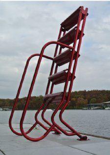 Wet Steps Lite 5 Step Aluminum Dock Ladders 5 Step Wet Steps Lite Ladders Dockladdersdepot Com