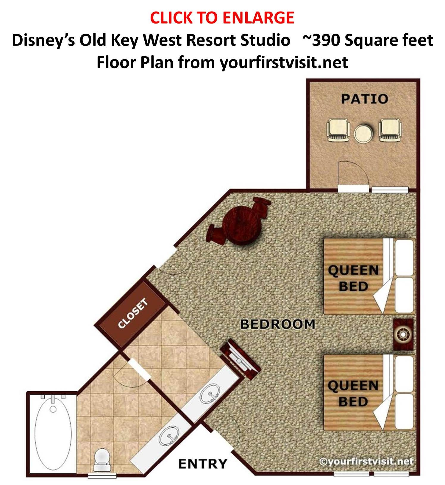 Overview Of Accommodations At Disney S Old Key West Resort Yourfirstvisit Net Key West Resorts Disney Key West Resort Key West Disney