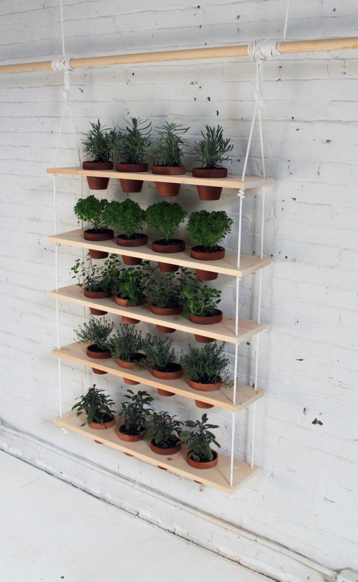 DIY Hanging Garden Shelves for a Small Space DIY Pinterest