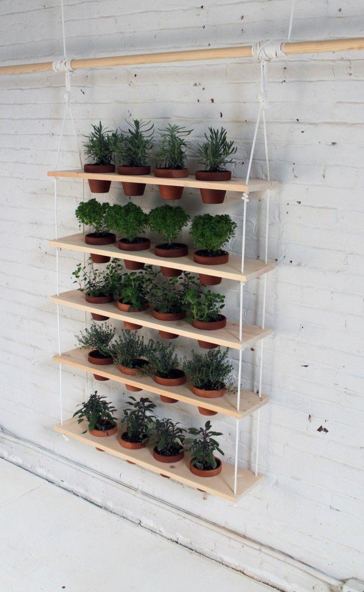 Diy Hanging Garden Shelves For A Small Space Vertical Garden