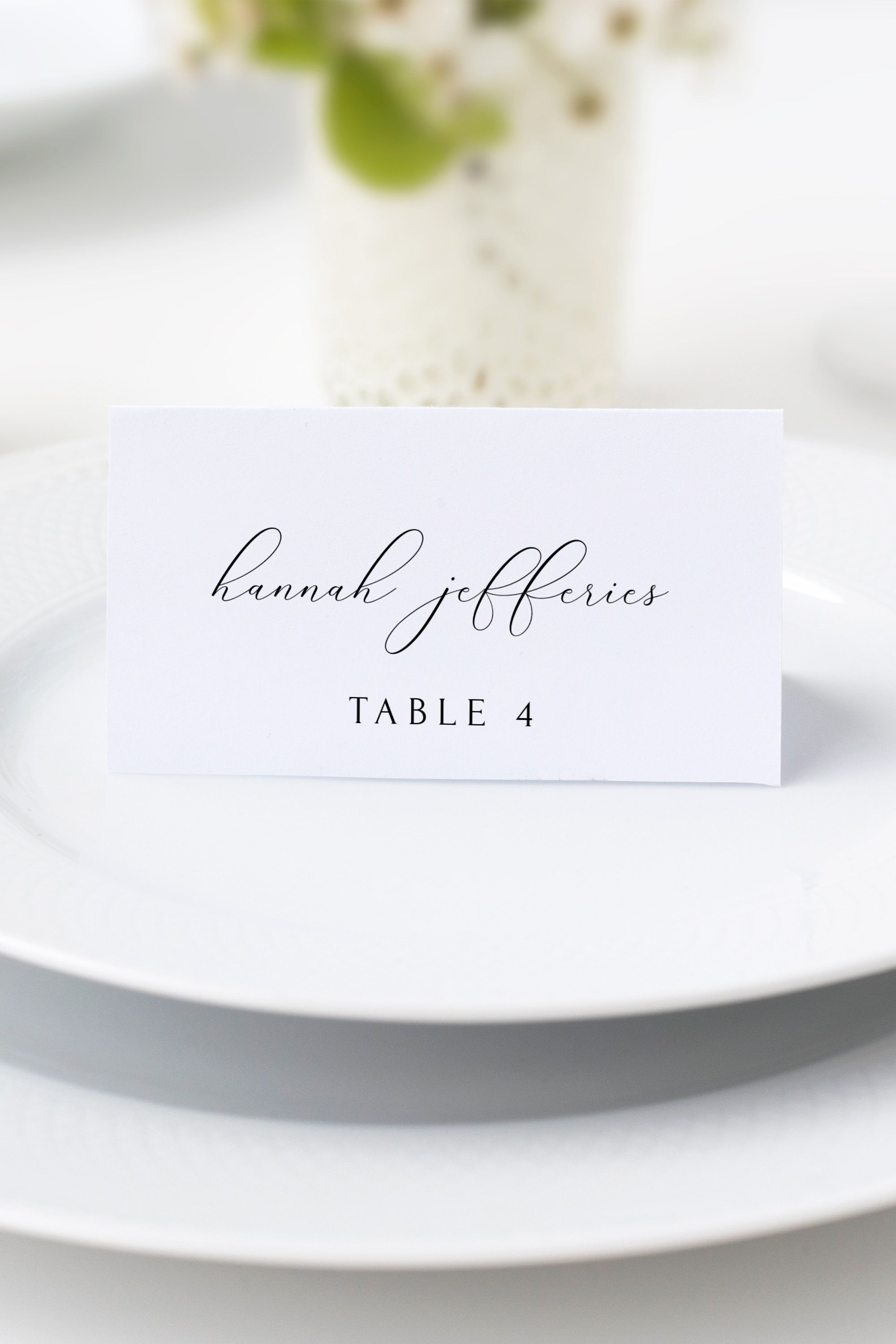 Asher Place Card Template Wedding Place Cards Script Place Etsy Printable Place Cards Wedding Wedding Place Card Templates Place Card Template