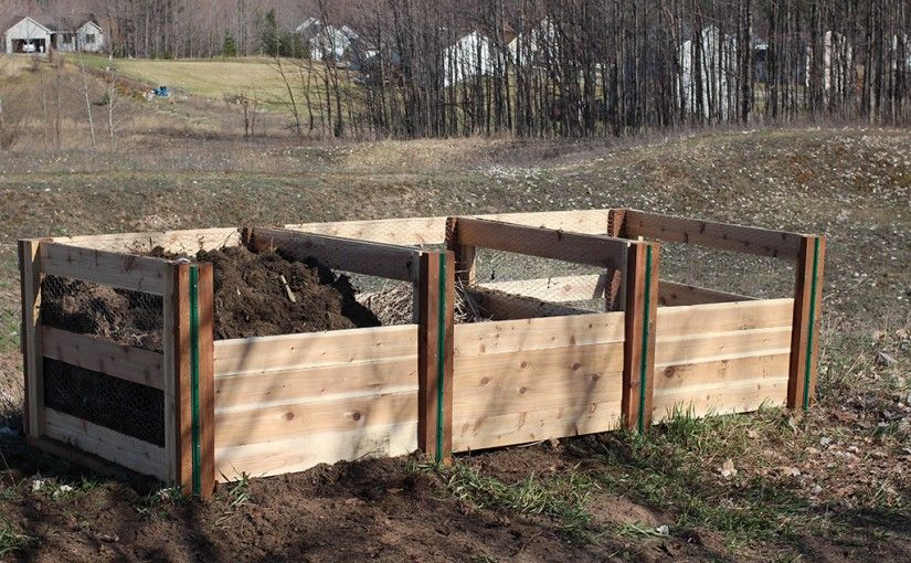 Three Bin Composting Project Making The Ultimate 3 System Featured In Organic Gardening Simple Diy Plans For A