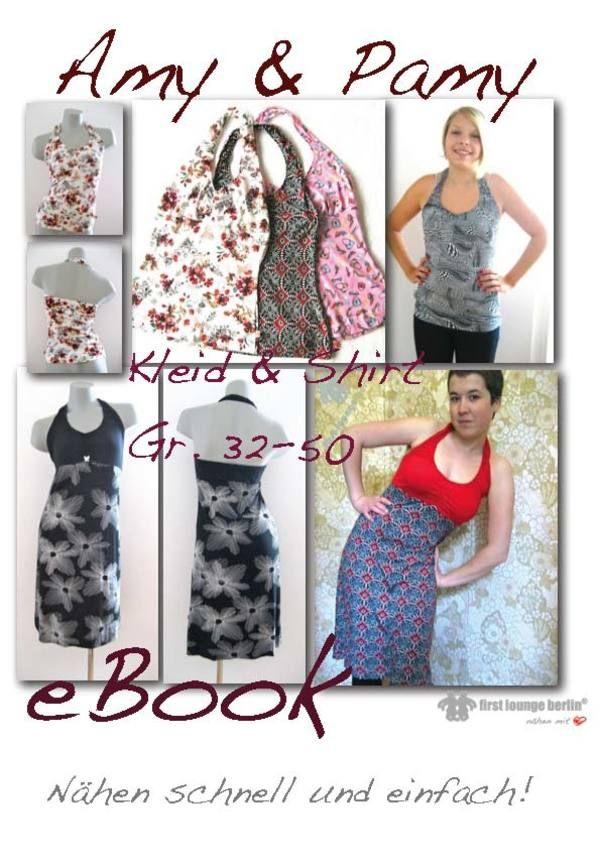 eBook Nähanleitung mit Schnittmuster für Kleid&Top Amy&Pamy ...