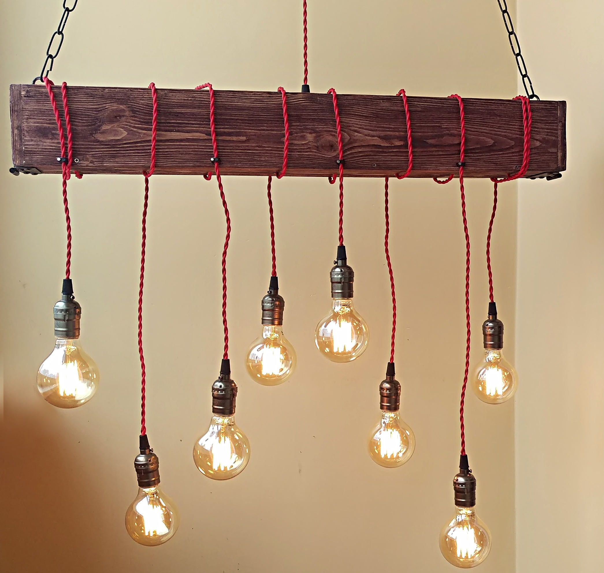Farmhouse pendant hanging lamp rustic handmade pendant lights