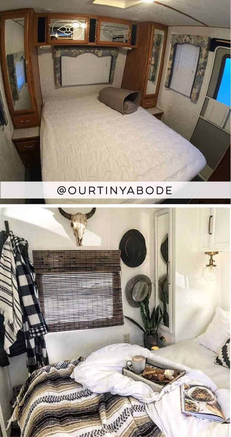 Photo of Tour this modern and eclectic camper from @OurTinyAbode!