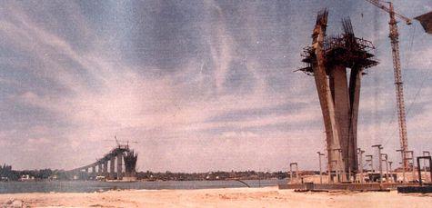 Construcción del Puente Tampico