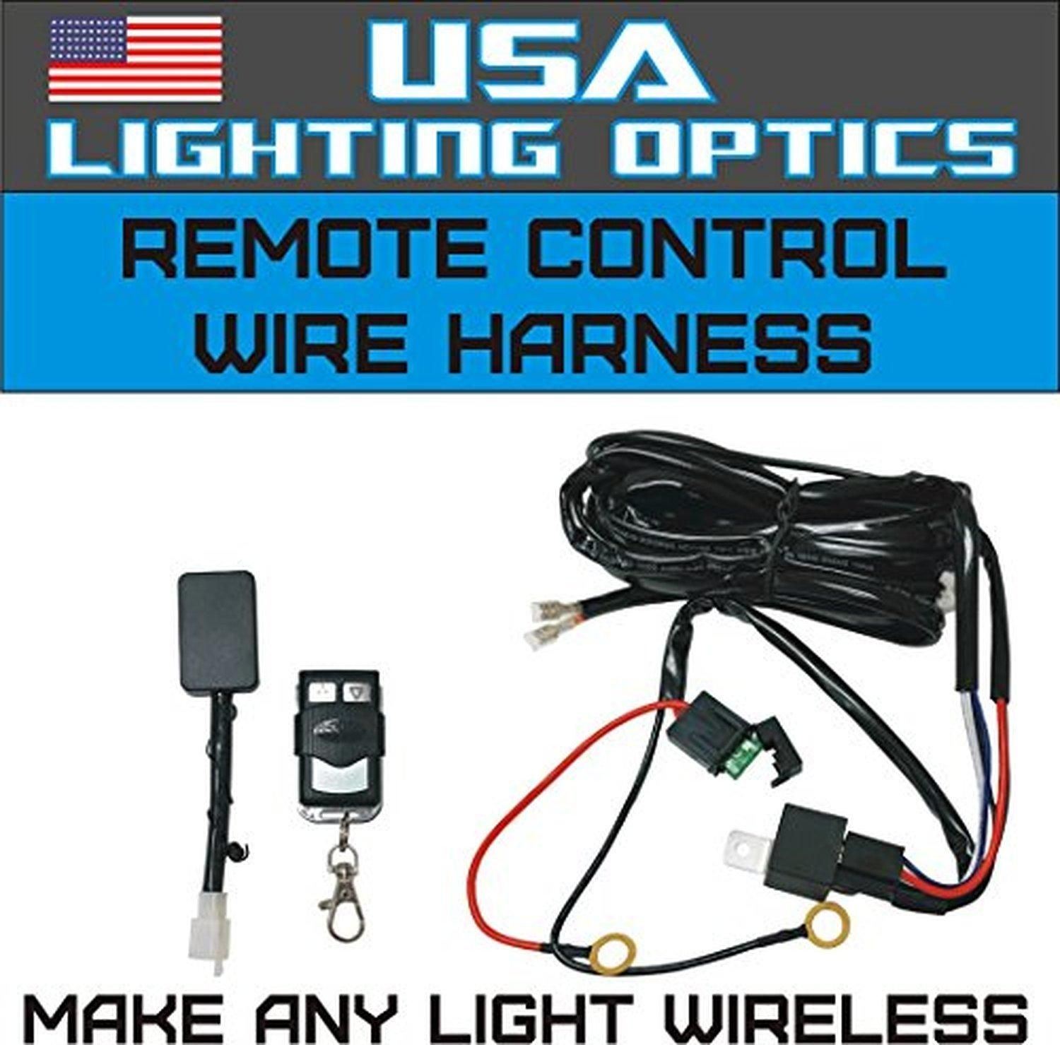 Wireless Remote Control Universal Wiring Harness Off Road Atv Utv 40 Amp Led Light Bar Kit Relay On Switch Jeep Trucks Brought To You By Avarshacom
