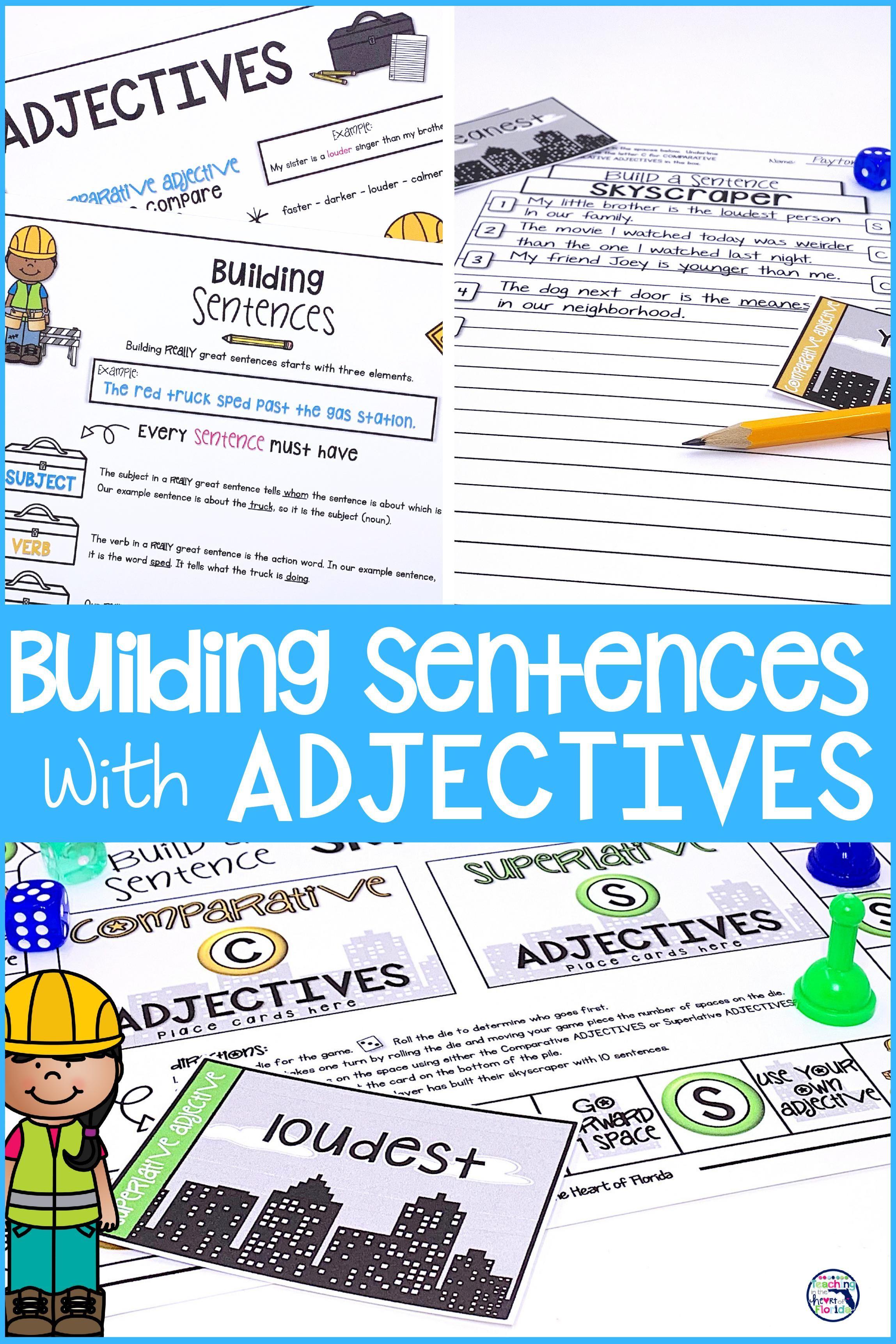 Building Sentences With Comparative Superlative Adjectives Superlative Adjectives Improve Writing Skills Ela Activities [ 3444 x 2297 Pixel ]