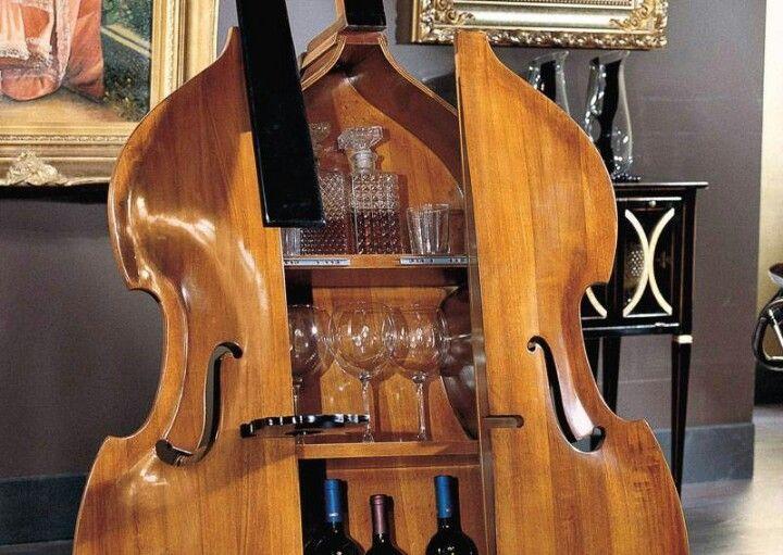Cello wine cabinet