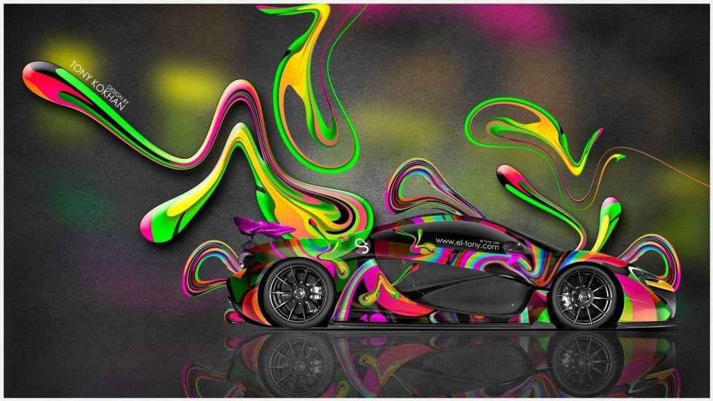Mclaren P1 GTR Car Art Wallpaper