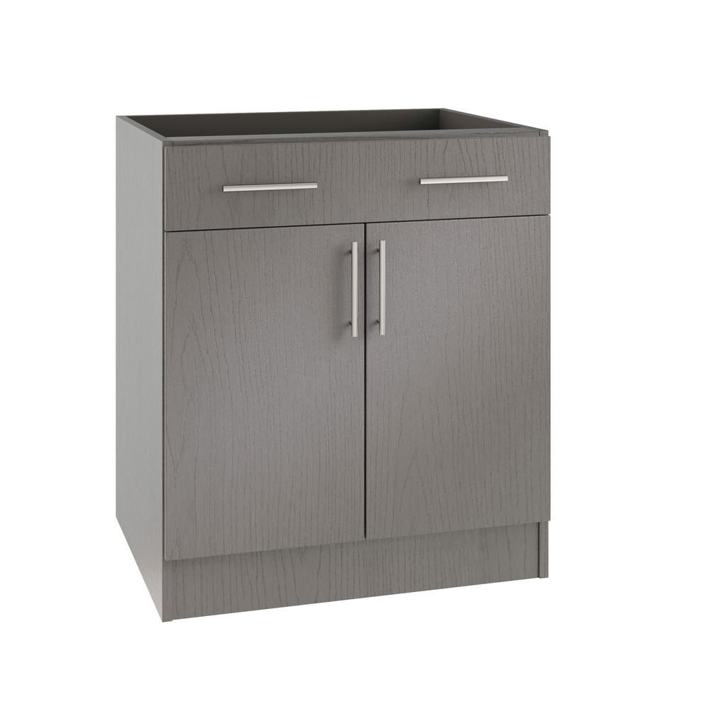 Weatherstrong Assembled 36x34 5x24 In Miami Island Outdoor Kitchen Base Cabinet With 2 Doors And 1 Drawer In Rustic Gray Outdoor Kitchen Cabinets Kitchen Base Cabinets Base Cabinets
