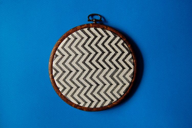 Copyright - Hannah Heys Surface Pattern Design and Illustration - Graphic Chevron Wall Art - Hand Stitched - available in our shop http://www.oneoffworks.com/new-products/