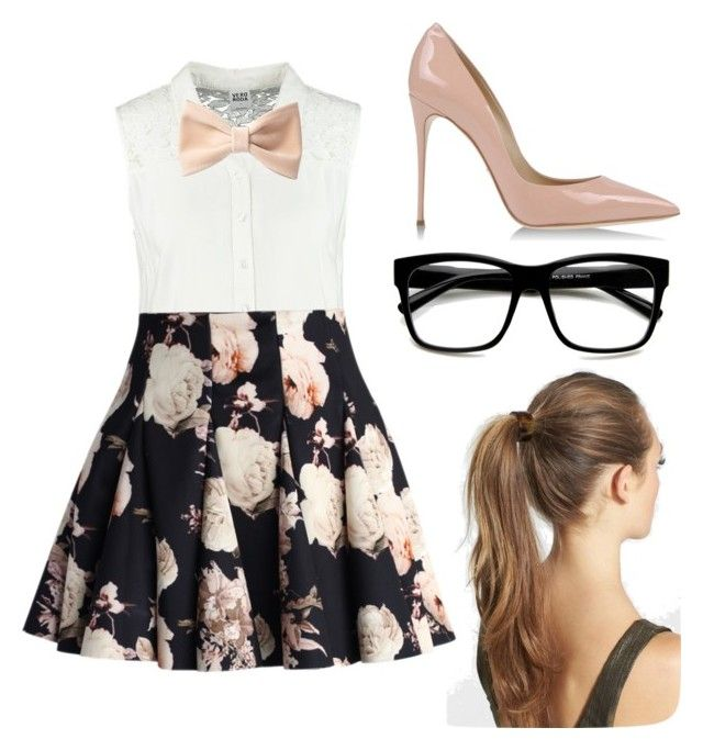 """""""Geeky Chic"""" by katherinembird ❤ liked on Polyvore featuring moda, France Luxe, Vero Moda, Chicwish, Dolce&Gabbana, Forever 21 e Retrò"""