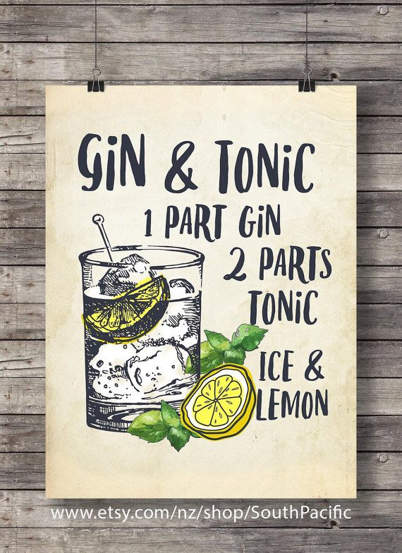 gin and tonic mit zitrone druckbare cocktail illustration hochzeit pinterest getr nke gin. Black Bedroom Furniture Sets. Home Design Ideas
