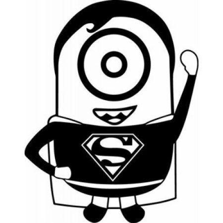 Minion Superman Black 5 5 Diecut Vinyl Decal Sticker Car