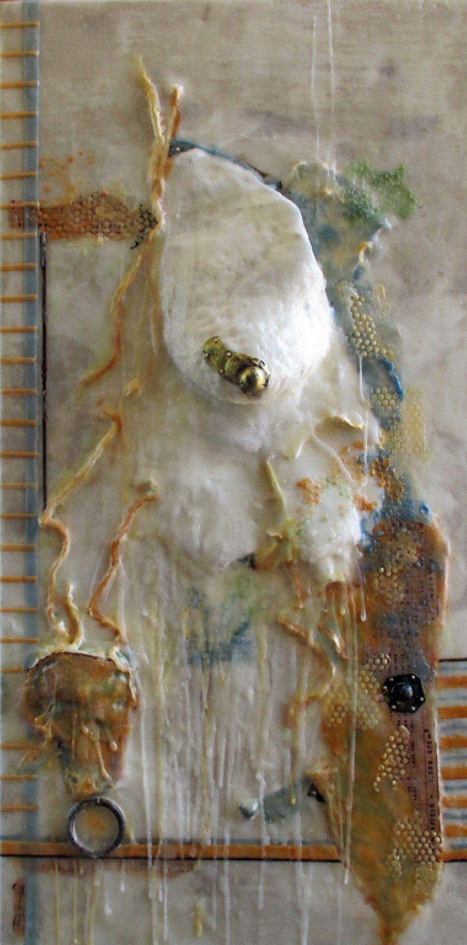 Bees wax, plaster, fabric and metal on wood. angelagonzalezrangel@gmail.com Atelier 109 Tijuana, México