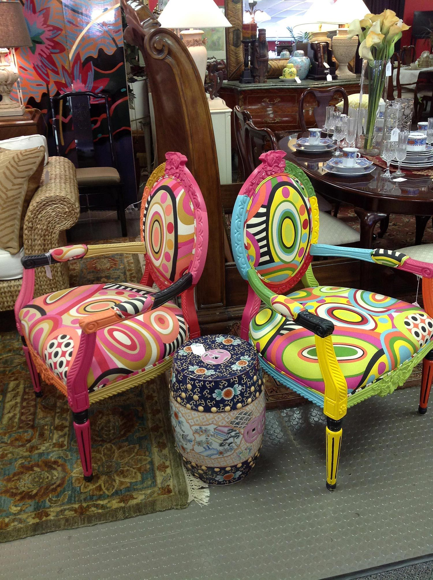 Funky Art Deco Chairs Encore Interiors