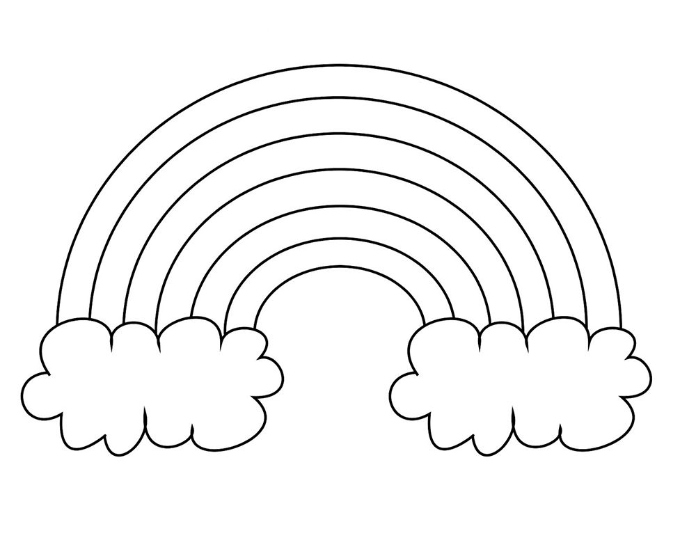 Legged Rainbow Clouds Coloring Pages For Kids Printable Rainbows