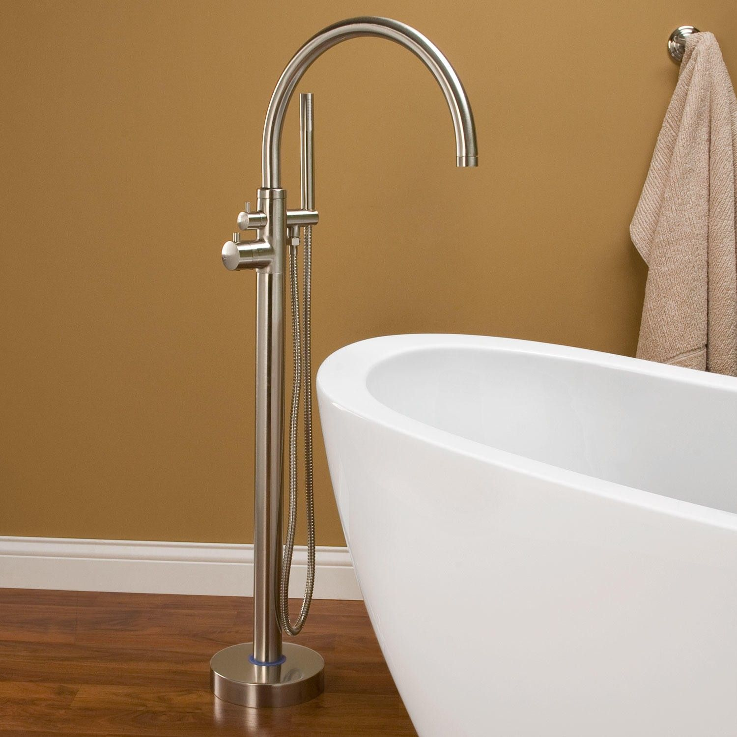 Linnea Freestanding Thermostatic Tub Faucet Freestanding Tub - Wall faucet for freestanding tub