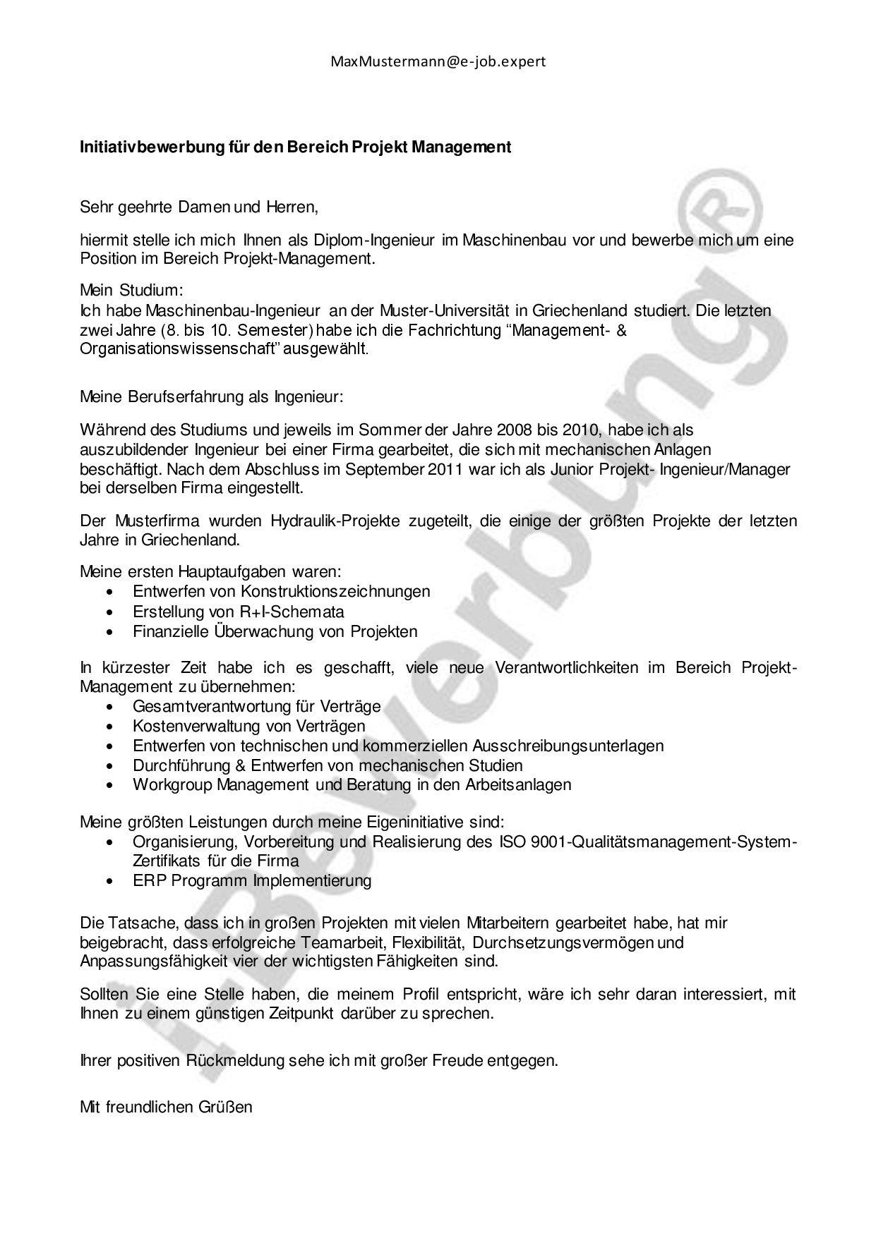 Was Ist Initiativbewerbung Entdecken Sie Den Verdeckten Stellenmarkt Bewerbung Anschreiben Diplom Ingenieur