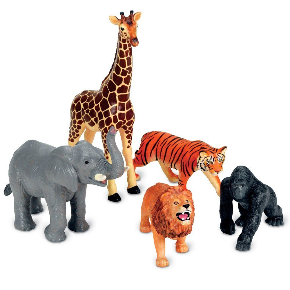 Animals Figure 54 Pc Mini Jungle Toy Set Wild Vinyl Plastic Learning Party Play