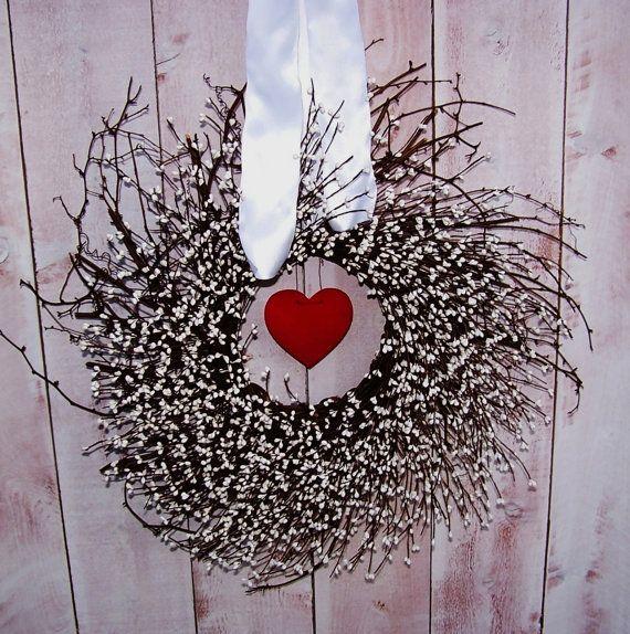 Valentine Wreath Spring Wreath Valentine Day Decor Wedding Wreath
