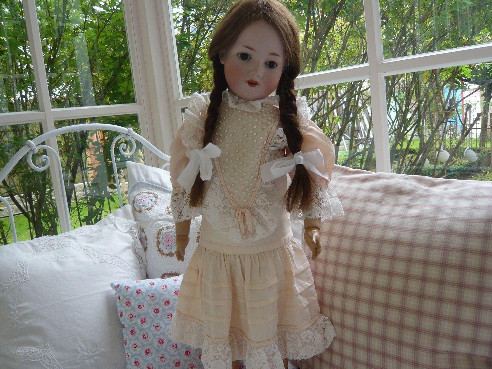 Antike Porzellankopf Puppe Armand Marseille Mädchen Spielzeug Shabby ...