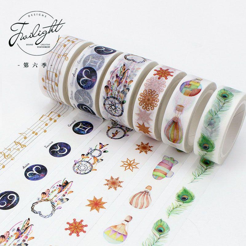 Scotch Decorative Masking Tape Diy Cute Kawaii Decorative Adhesive Washi Tape Feather Masking