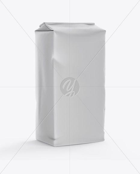 Paper Flour Bag Mockup - Half Side View