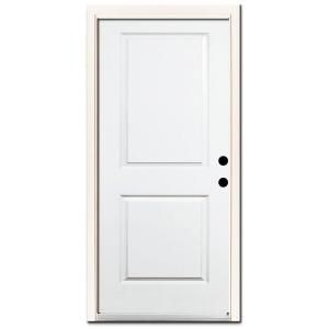 Steves Sons Premium 2 Panel Square Top Primed White Steel Prehung Front Door With Brickmold Discontinued 1020lh The Home Depot Interior Wood Shutters Front Door Steel Entry Doors