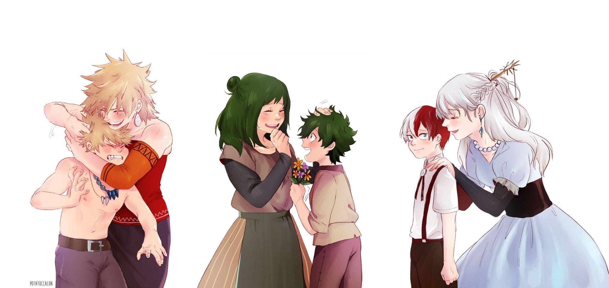 Bakugou Katsuki & Mitsuki | Midoriya Izuku & Inko | Todoroki