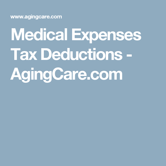 What Medical Expenses Can Be Written off on Taxes? | Tax ...