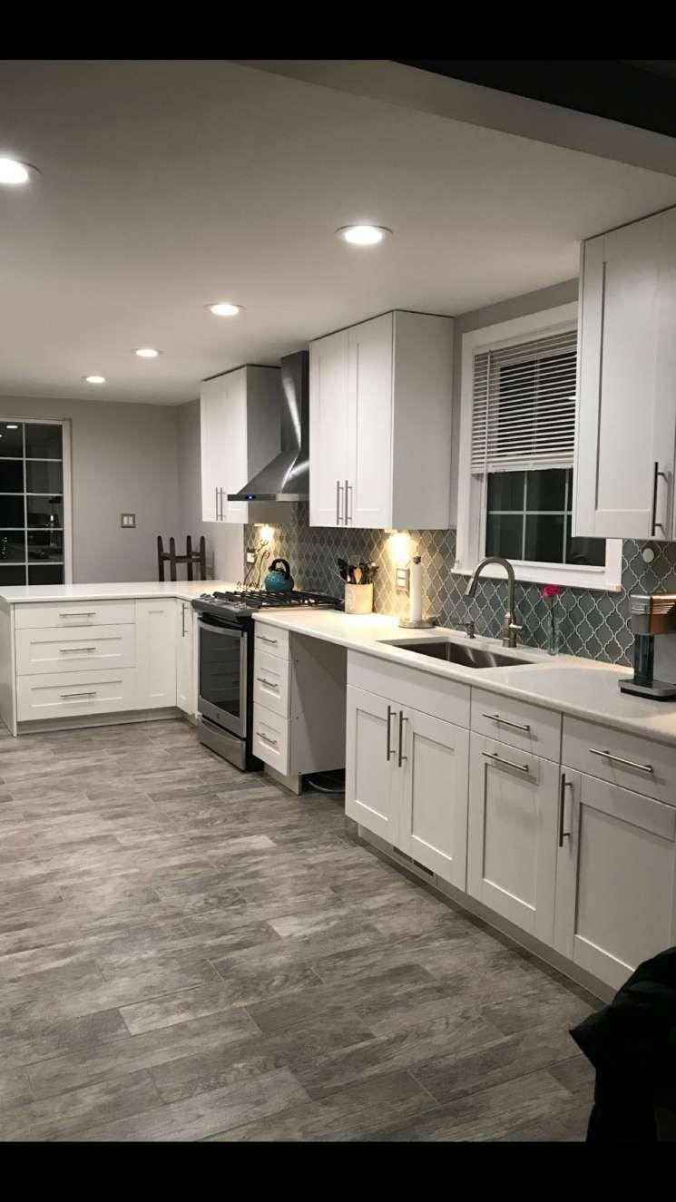12 Kitchen Color Design With Gray Floor Tile And White Cabinets Kitchen Backsplash Designs Farmhouse Kitchen Backsplash Country Kitchen Backsplash