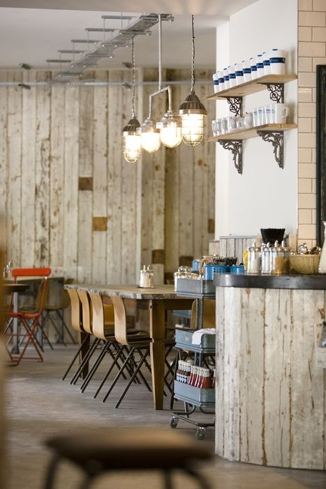Rustic Cafe Interior