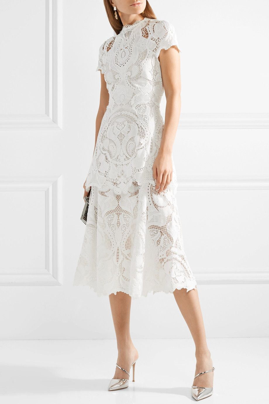 lace-embroidered midi dress - White Jonathan Simkhai PIAdJ
