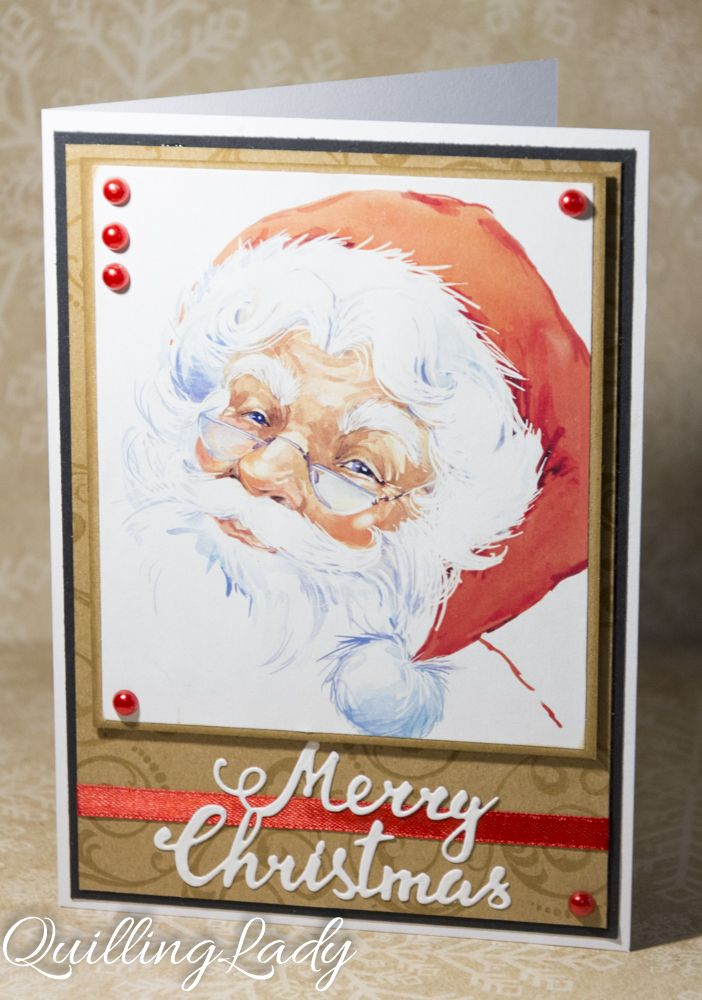 A set of four cards with Santa :)     Happy crafting!