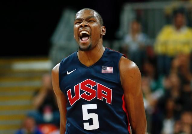 Olympics 2012: Kevin Durant, USA basketball pound Argentina 126-97 after  close first half; NY Knicks' Carmelo Anthony hit by 'cheap shot'   Team usa  basketball, Olympic basketball, Usa basketball