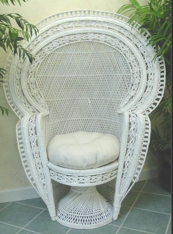 Peacock Fan Chair Wicker Peacock Chair Baby Shower Chair Boho Chair