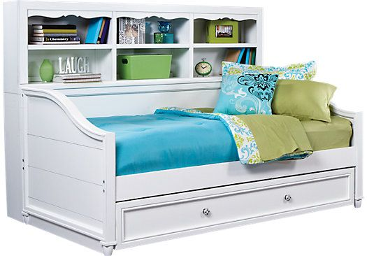 gabriella winter white 3 pc bookcase daybed rh pinterest ph
